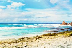 Tropical island on the sunny day. Photo of a tropical island on the sunny day stock image