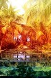 Photo tropical paradise garden Stock Photo