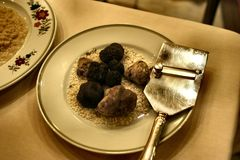 Photo of Truffles on the Plate royalty free stock photos