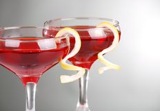 Photo of two Cosmopolitan cocktails Stock Photo