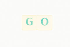 Photo Of Two Green Letters Forming The Word Go Royalty Free Stock Photography
