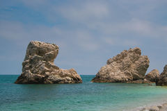 Photo of two sisters beach (Spiaggia delle due Sorelle), Monte Conero Stock Photography