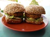 Vegetarian burgers Stock Photo