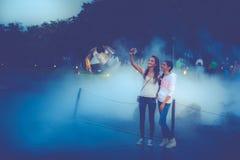 Photo Of Two Women Taking Selfie Stock Photo