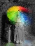 Sunshine through the rain vector illustration