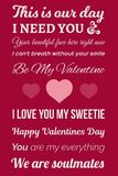 Photo typographique de Valentine images stock