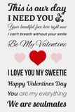 Photo typographique de Valentine photos libres de droits