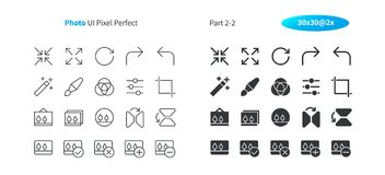 Photo UI Pixel Perfect Well-crafted Vector Thin Line And Solid Icons 30 2x Grid for Web Graphics and Apps. Simple Minimal Pictogram Part 2-2 Royalty Free Stock Photography