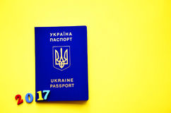 A photo of ukrainian passport 2017, royalty free stock photo