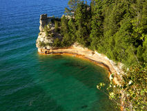 Miner's Castle. Photo of a unique rock formation along the shores of Lake Superior Stock Photos