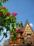 The photo of the urban landscape of Wroclaw Poland Stock Photo