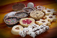 Photo of various sweet cakes Stock Photos