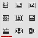 Photo vector icon Royalty Free Stock Photography