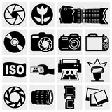 Photo vector icons set. Photo  icons set isolated on grey background.EPS file available Stock Images