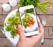 Photo vegetable salad Stock Image