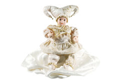 Photo of Venice carnival doll isolated over white Royalty Free Stock Photo