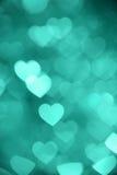 Photo verte de fond de bokeh de coeur, contexte abstrait de vacances Photo stock