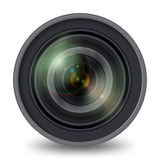 Photo Video Camera Lens Isolated Front View Royalty Free Stock Photo