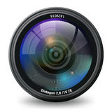 Photo Video Camera Lens Isolated Front View Royalty Free Stock Images