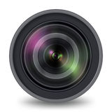 Photo Video Camera Lens Isolated Front View Stock Photography