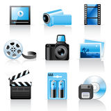 Photo and video icons Royalty Free Stock Photo