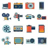 Photo Video Icons Set Stock Photos