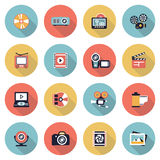 Photo & video modern flat color icons. Stock Photography