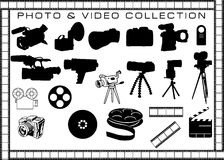 Photo and video objects. Collection Royalty Free Stock Photography