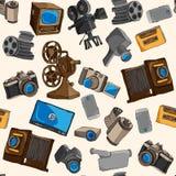 Photo video seamless pattern Stock Image