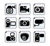 Photo video security camera. Set Stock Images