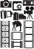 Photo and video stuff. Vector photo and video stuff Royalty Free Stock Images