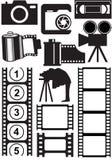 Photo and video stuff vector illustration