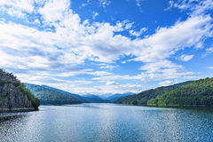 Photo of vidraru lake in fagaras mountains Stock Photo