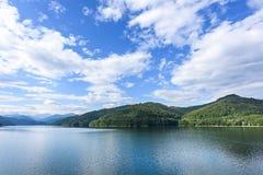 Photo of vidraru lake in fagaras mountains Stock Photo