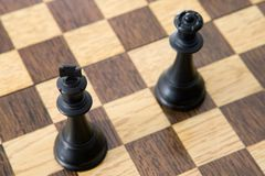 Photo view from above of chess pieces on the board Royalty Free Stock Photos