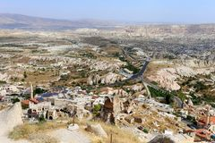 Photo views of Cappadocia. From above on a sunny afternoon Royalty Free Stock Images