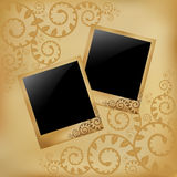 Photo On Vintage Background. Vector Stock Images