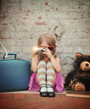 Photo of Vintage Child Taking Picture royalty free stock photo