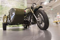 Vintage motorcycle, Ural motorcycle royalty free stock photos