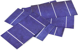 Photo-voltaic cells. A pile of photo voltaic cells Royalty Free Stock Image