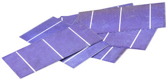 Photo-voltaic cells. A pile of photo voltaic cells Stock Images