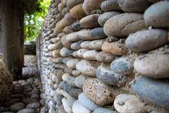 Photo wall paved with colourful stones Royalty Free Stock Photography