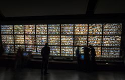 Photo wall of the victims of the Nanjing Massacre Memorial Hall royalty free stock photo