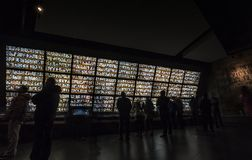 Photo wall of the victims of the Nanjing Massacre Memorial Hall royalty free stock photos