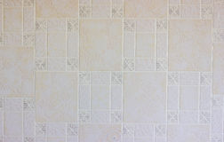 Photo wall with wallpaper. Texture wallpaper with a picture on the wall Stock Photography
