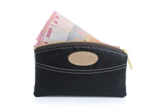 Photo of wallet and money Stock Photography