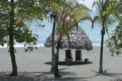 Peacefull place at the Caribe of Costa Rica stock photos