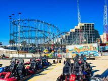 Daytona Beach Amusement Park, Florida, U.S.A. This photo was taken before the amusement park was opened. Taken early in the morning in January 2016 Stock Image
