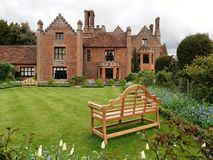Chenies Manor House, a Tudor Grade I listed building, in springtime stock photo