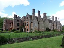 Chenies Manor House, a Tudor Grade I listed building, in springtime stock images